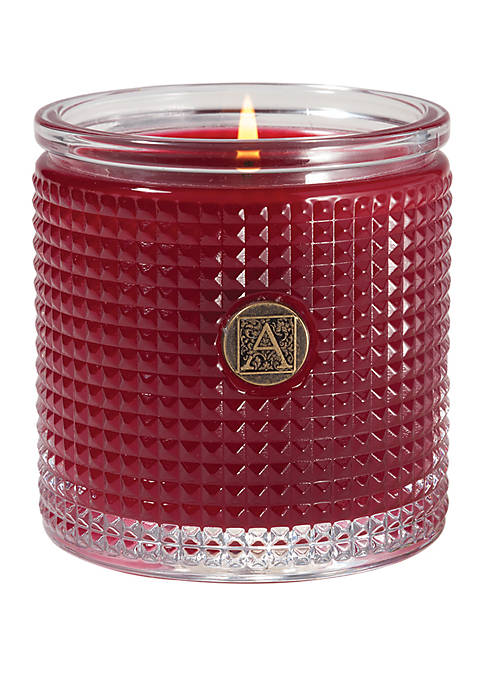 Aromatique Peppermint Garland 5.5 Ounce Textured Candle