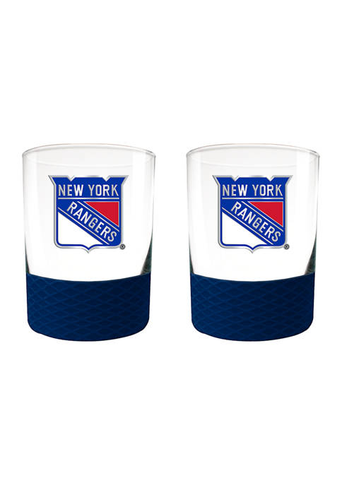 Great American Products NHL Rangers 2-Piece Commissioner Glass