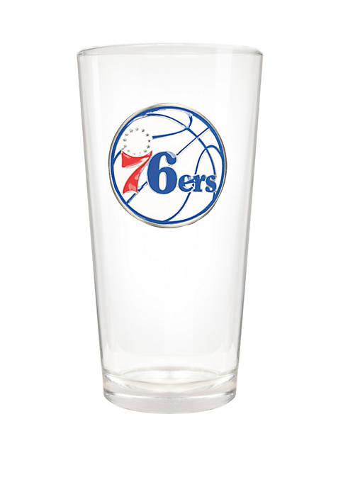NBA Philadelphia 76ers Blast 22 Ounce Pint Glass