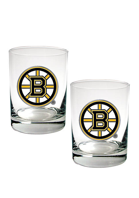 Great American Products NHL Boston Bruins Rocks Glass