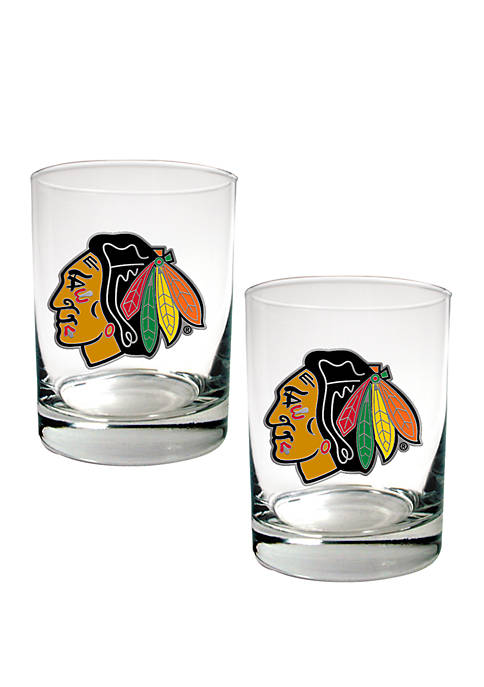 Great American Products NHL Chicago Blackhawks Rocks Glass