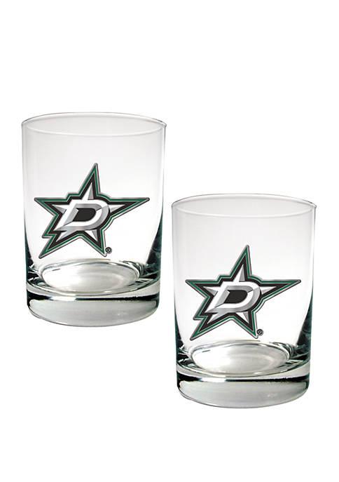 NHL Dallas Stars Rocks Glass Set