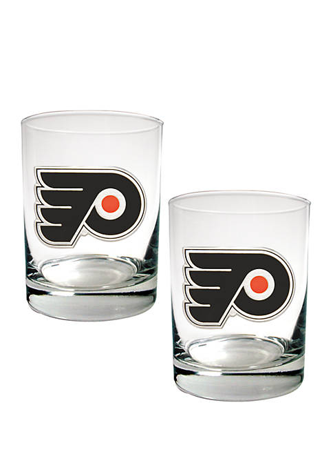 NHL Philadelphia Flyers Rocks Glass Set