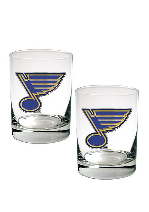 NHL St. Louis Blues Rocks Glass Set