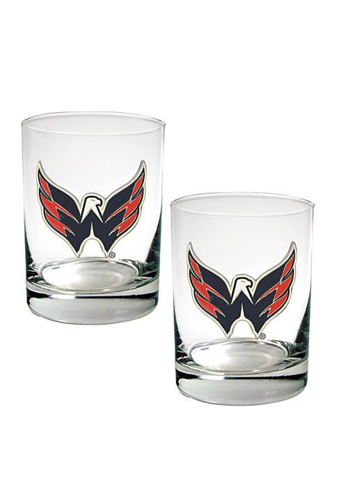 NHL Washington Capitals Rocks Glass Set
