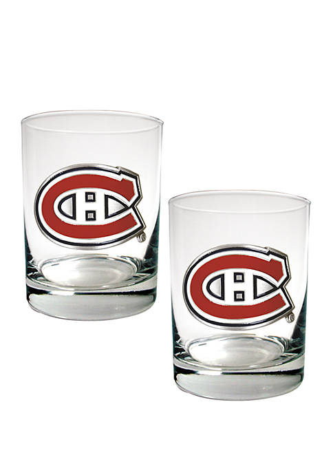NHL Montreal Canadiens 2 Piece Rocks Glass Set