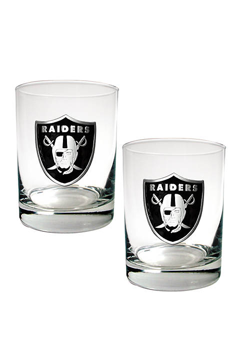 Great American Products NFL Oakland Raiders Rocks Glass