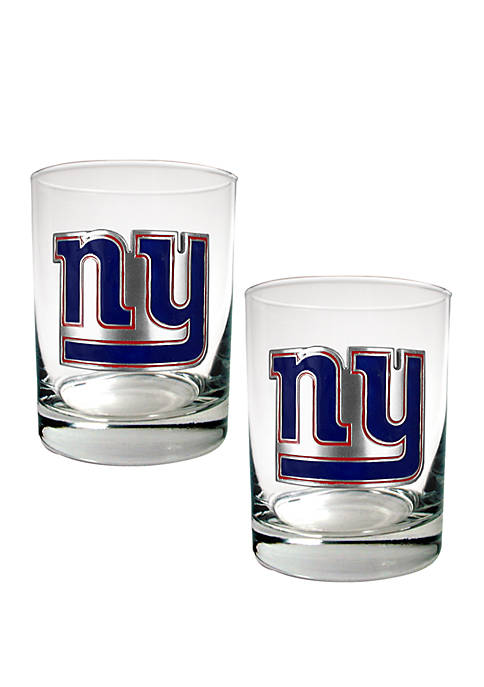 NFL New York Giants Rocks Glass Set