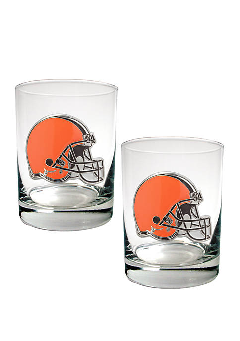Great American Products NFL Cleveland Browns Rocks Glass