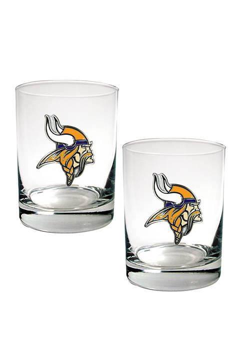 Great American Products NFL Minnesota Vikings Rocks Glass