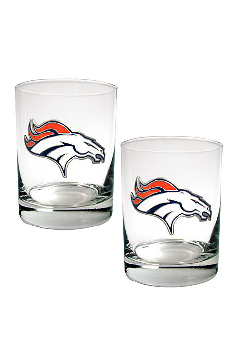 Great American Products NFL Denver Broncos Rocks Glass