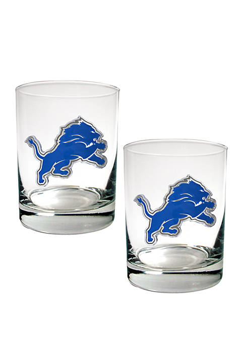 Great American Products NFL Detroit Lions Rocks Glass