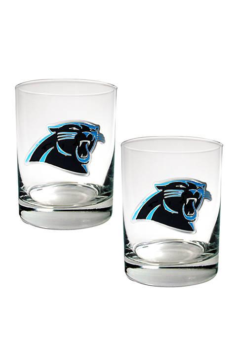 Great American Products NFL Carolina Panthers Rocks Glass