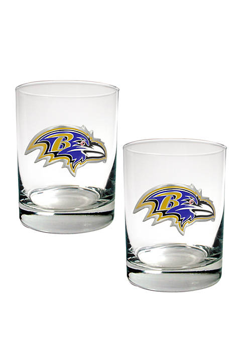 Great American Products NFL Baltimore Ravens Rocks Glass