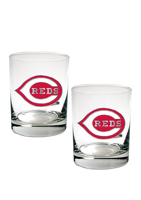 Great American Products MLB Cincinnati Reds Rocks Glass