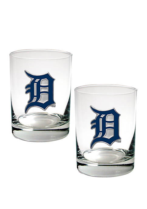 Great American Products MLB Detroit Tigers Rocks Glass