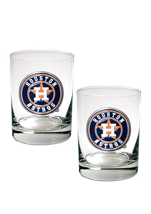 Great American Products MLB Houston Astros Rocks Glass