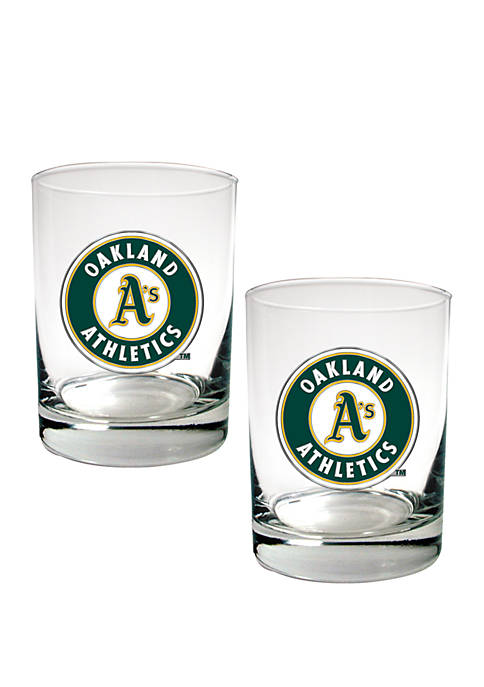 Great American Products MLB Oakland As Rocks Glass
