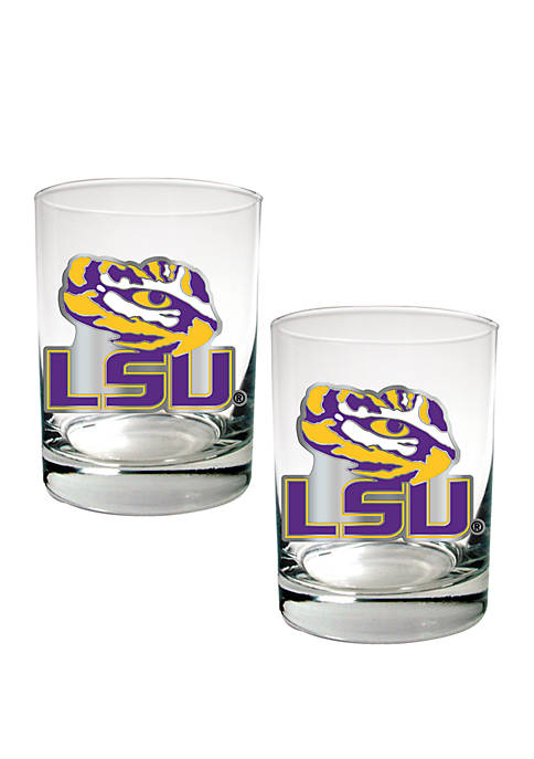Great American Products NCAA LSU Tigers Rocks Glass