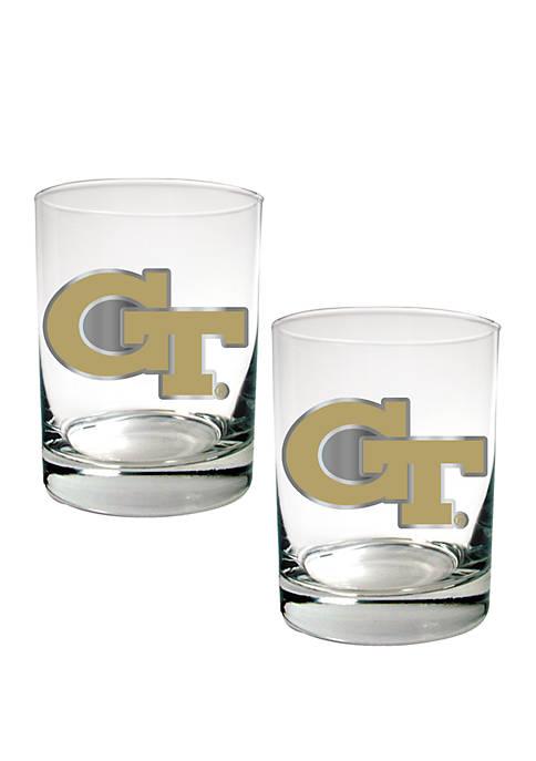 NCAA Georgia Tech Yellow Jackets Set of 2 Rocks Glasses