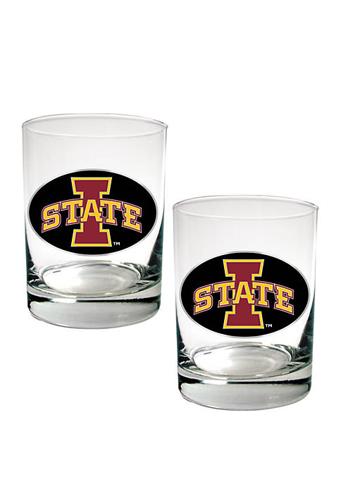 NCAA Iowa State Cyclones 2 Ounce Set of 2 Party Shot Glasses