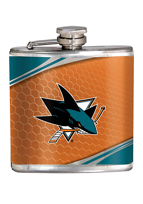 NHL San Jose Sharks 6 Ounce Stainless Steel Flask