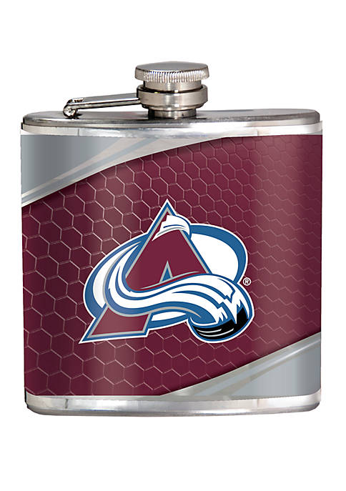 NHL Colorado Avalanche 6 Ounce Stainless Steel Flask