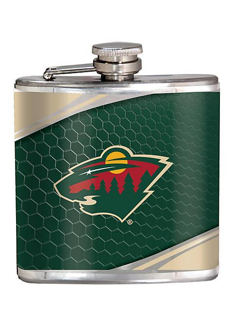 NHL Minnesota Wild 6 Ounce Stainless Steel Flask