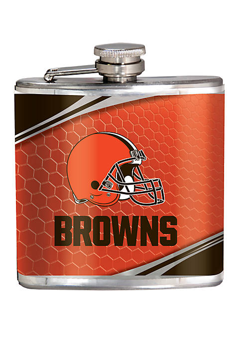 NFL Cleveland Browns 6 Ounce Stainless Steel Flask