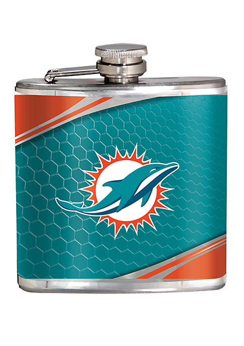 NFL Miami Dolphins 6 Ounce Stainless Steel Flask