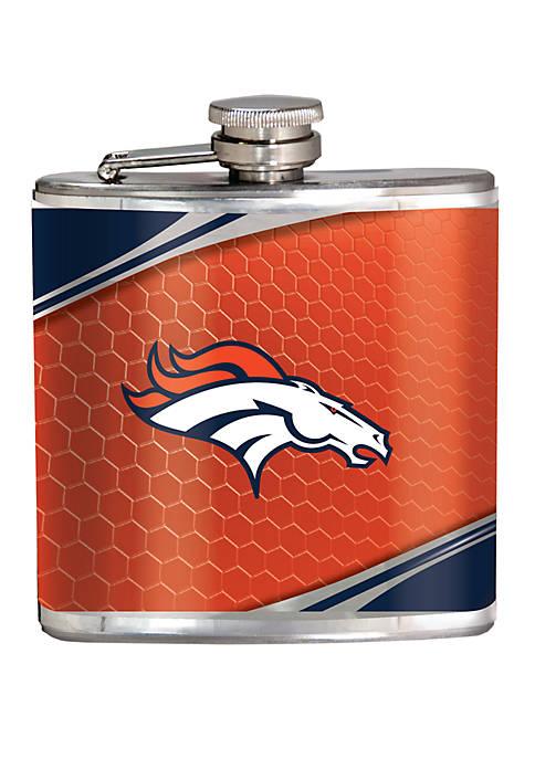 NFL Denver Broncos 6 Ounce Stainless Steel Flask