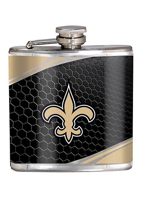 NFL New Orleans Saints 6 Ounce Stainless Steel Flask