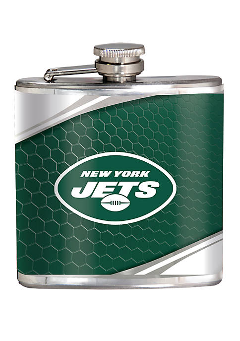 NFL New York Jets 6 Ounce Stainless Steel Flask