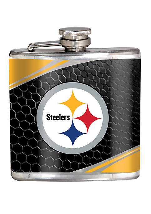 NFL Pittsburgh Steelers 6 Ounce Stainless Steel Flask