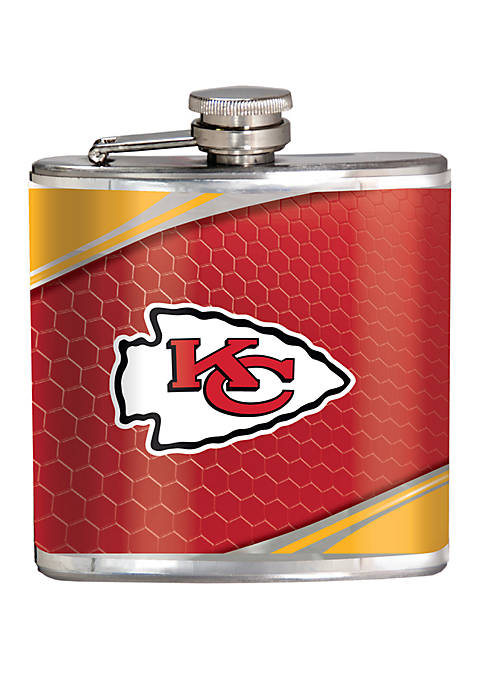 NFL Kansas City Chiefs 6 Ounce Stainless Steel Flask
