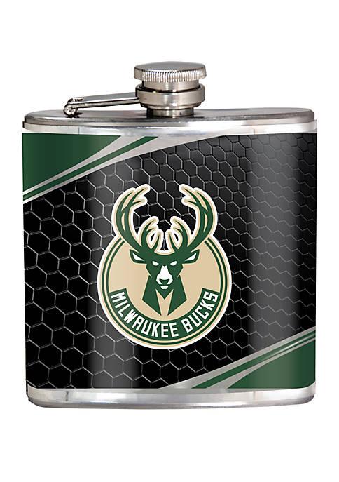 NBA Milwaukee Bucks 6 Ounce Stainless Steel Flask