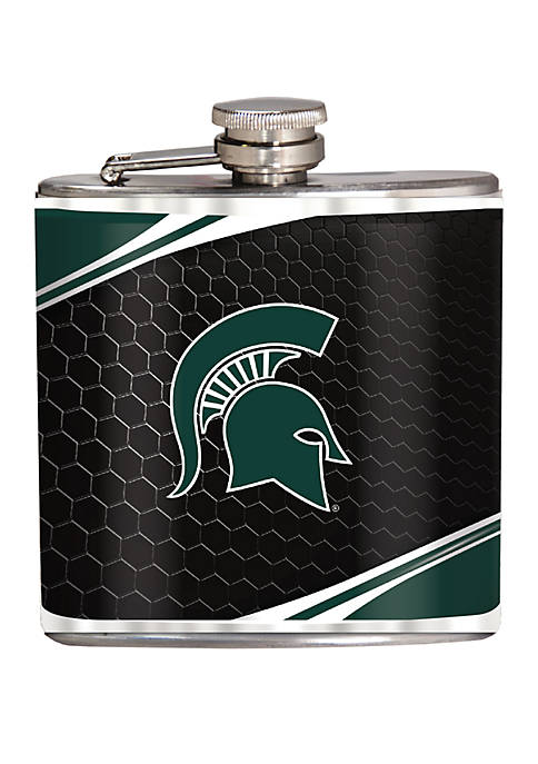 NCAA Michigan State Spartans 6 Ounce Stainless Steel Flask