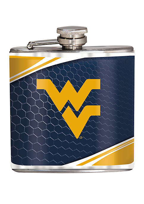 NCAA West Virginia Mountaineers 6 Ounce Stainless Steel Flask