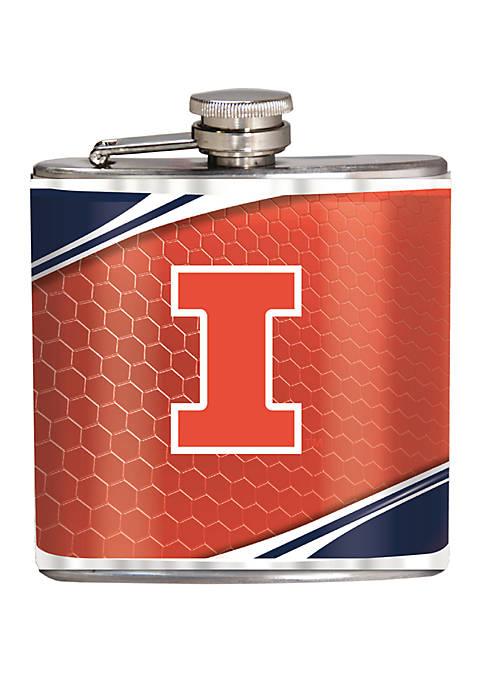 NCAA Illinois Fighting Illini 6 Ounce Stainless Steel Flask