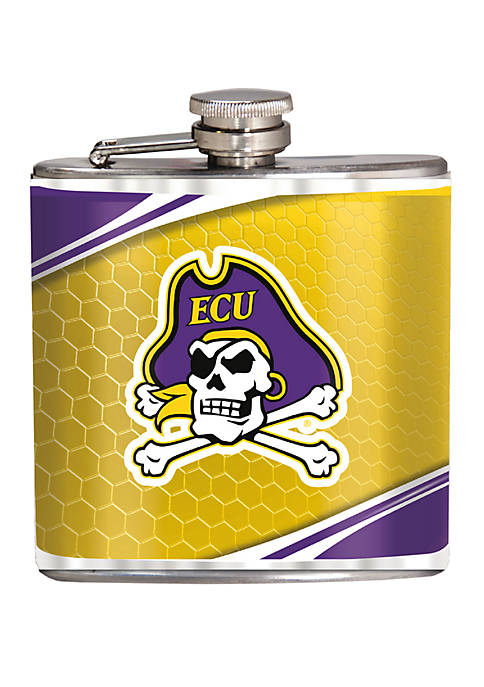 NCAA ECU Pirates 6 Ounce Stainless Steel Flask