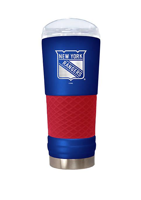 NHL New York Rangers 24 Ounce Team Colored Draft Tumbler