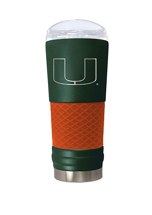 NCAA Miami Hurricanes 24 Ounce Team Color Draft Tumbler