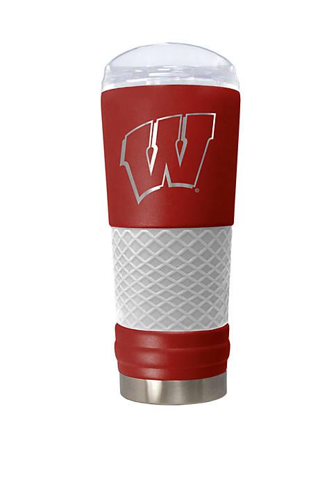 NCAA Wisconsin Badgers 24 Ounce Team Color Draft Tumbler