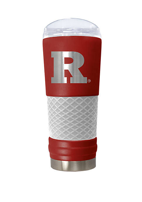 NCAA Rutgers Scarlet Knights 24 Ounce Team Color Draft Tumbler