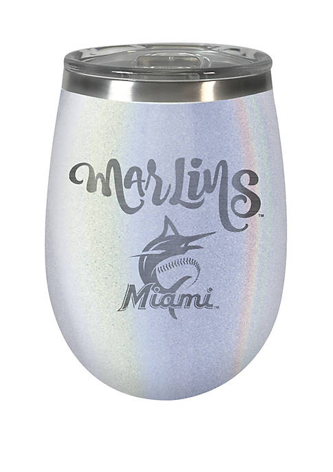 MLB Miami Marlins 12 Ounce Opal Wine Tumbler