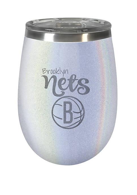 NBA Brooklyn Nets 12 Ounce Opal Wine Tumbler