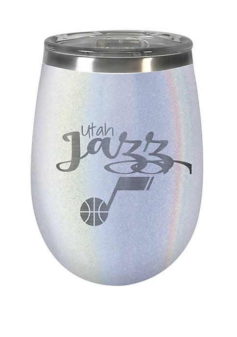 NBA Utah Jazz 12 Ounce Opal Wine Tumbler