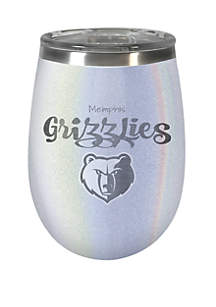Great American Products NBA Memphis Grizzlies 12 Ounce Opal Wine Tumbler