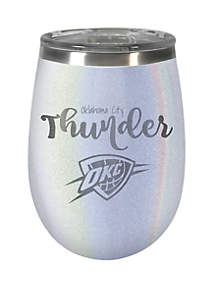 Great American Products NBA Oklahoma City Thunder 12 Ounce Opal Wine Tumbler