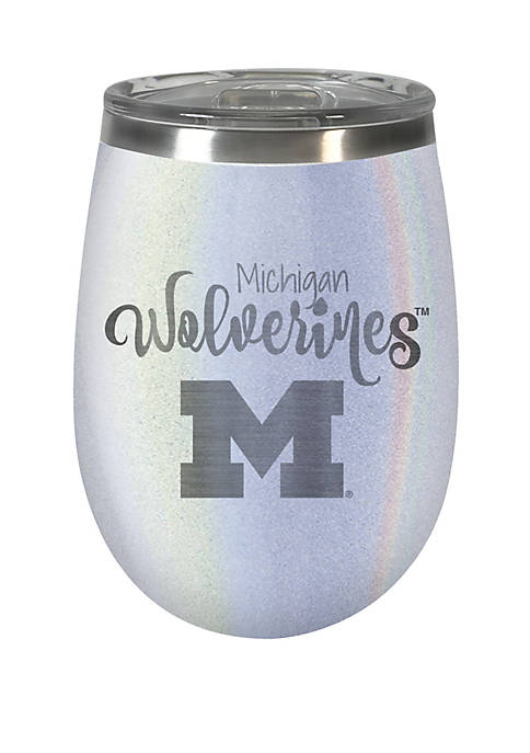 NCAA Michigan Wolverines 12 Ounce Opal Wine Tumbler
